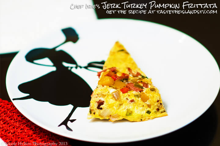 Chef Irie's Jerk Turkey Pumpkin Frittata - Jamaican Jerk Recipes