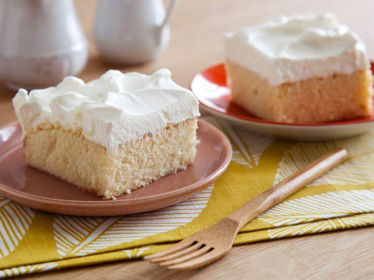 A Latin American favorite dessert sponge cake soaked in 3 types of milk.