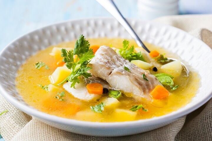 Jamaican fish tea a light soup taste the islands for Fish broth recipe