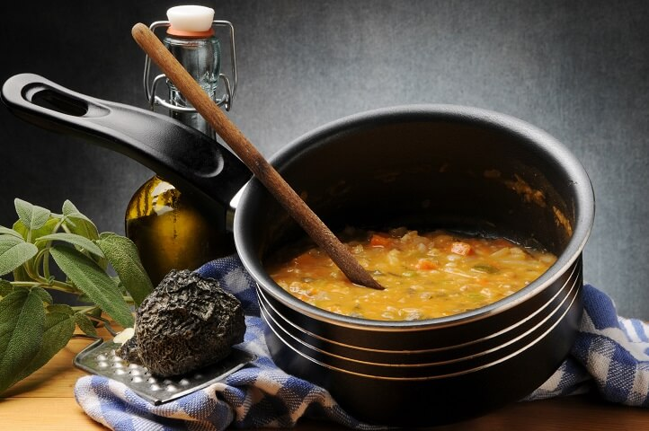 Jamaican Gungo Peas Soup or Pigeon Pea Soup or Gandules Soup