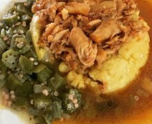 Traditional Barbadian Cou Cou