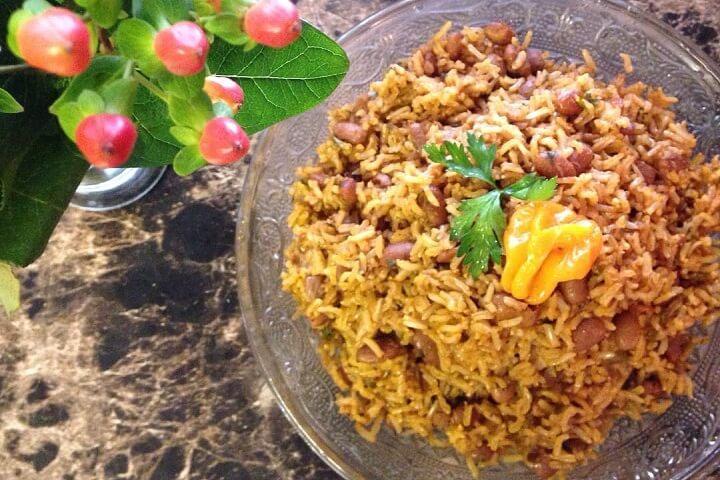 Diri Kole - Haitian Rice and Beans - Haitian Recipes - Caribbean Recipes