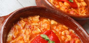 Guanimes Con Bacalao (Puerto Rican Corn Dumplings with Codfish Stew)