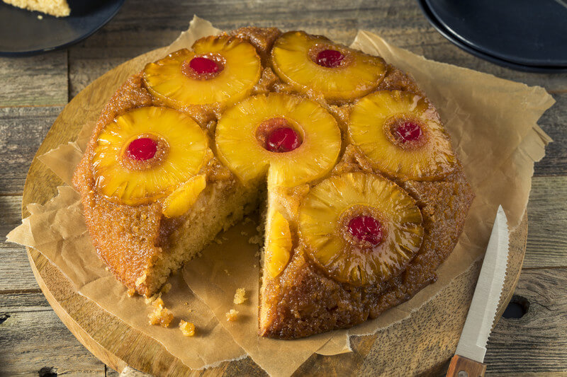 Pineapple Upside Down Cake - Haitian Recipes - Caribbean Recipes