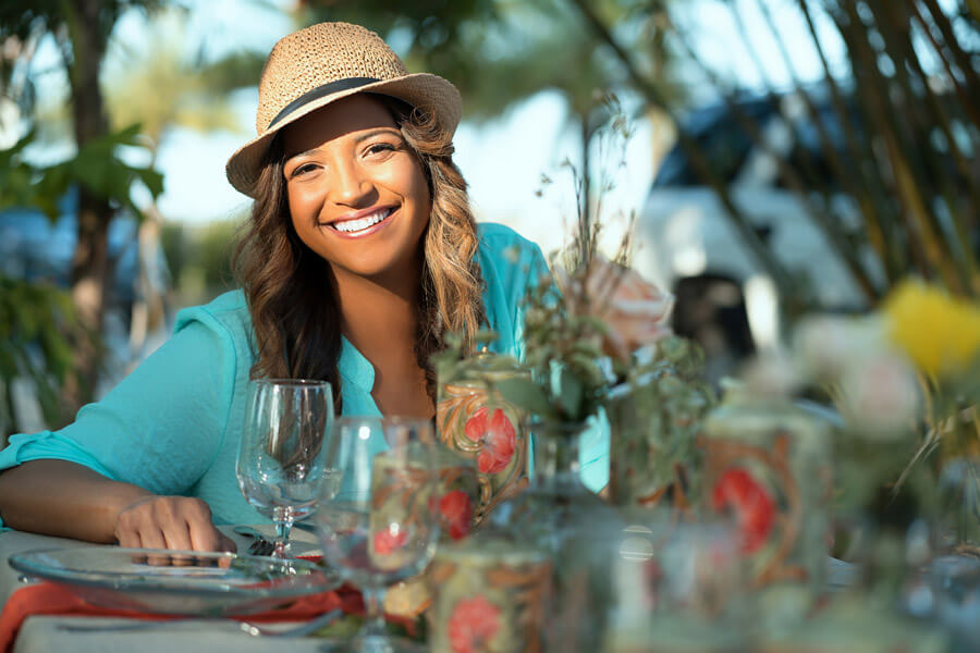 Co-host of Taste the Islands TV Show, Cynthia - Chef Thia- Verna, Photo by Richard Lecoin